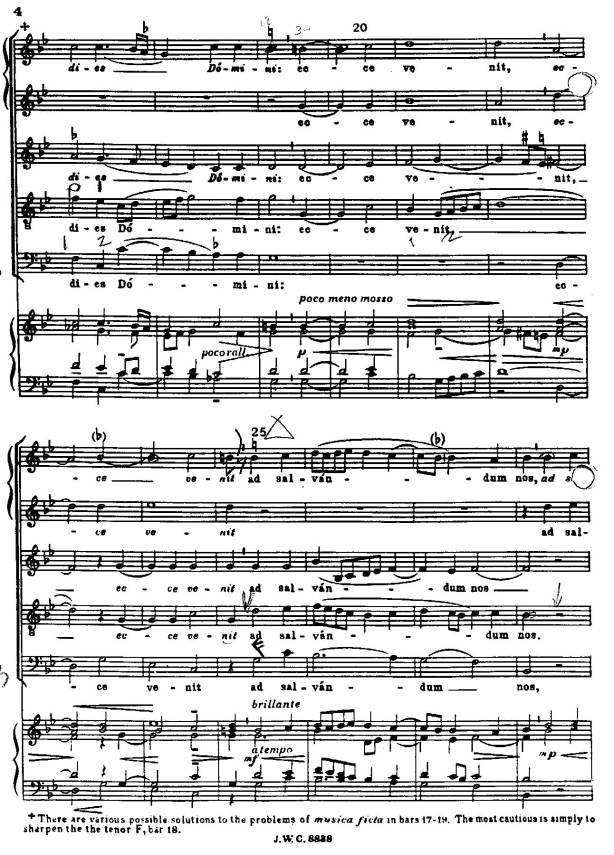 page from Palestrina's Canite Tuba