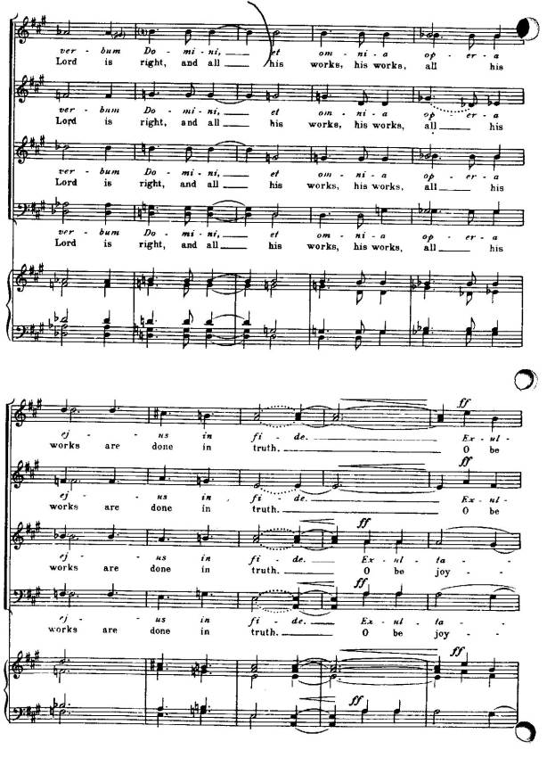 page from Vaughn Williams' A Choral Flourish